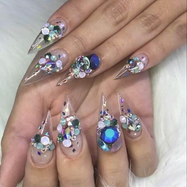 ongles en gel clair