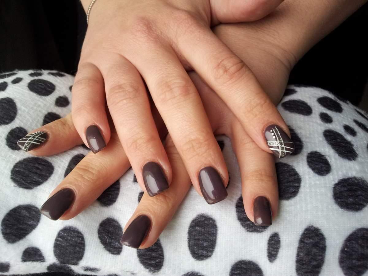ongles en gel décorés