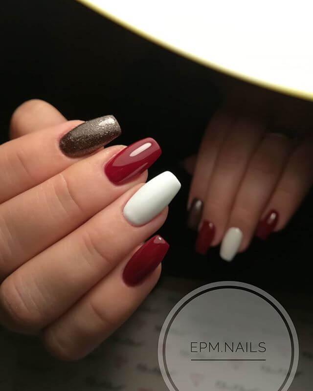 ongles en porcelaine simple