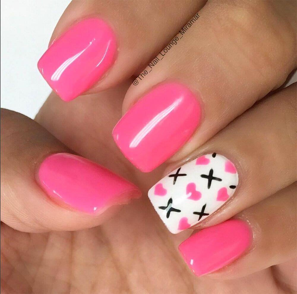Des ongles d'amour avec des cœurs pour les romantiques! + 170 designs 11