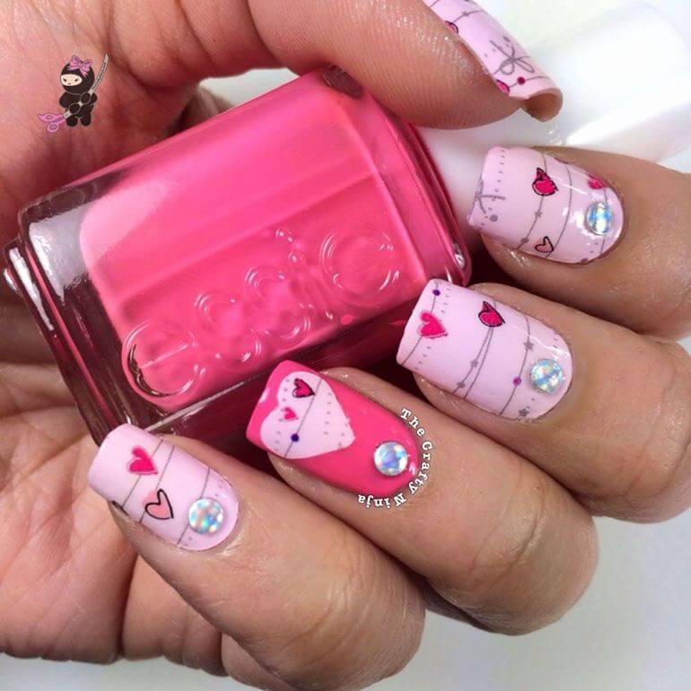Des ongles d'amour avec des cœurs pour les romantiques! + 170 dessins 18