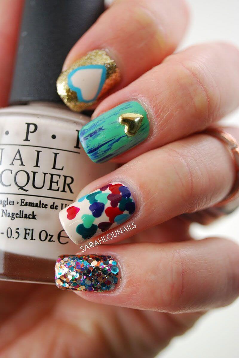 Des ongles d'amour avec des cœurs pour les romantiques! + 170 designs 22