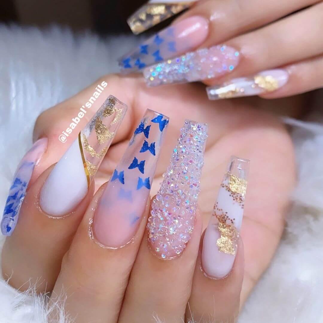 ongles longs en acrylique