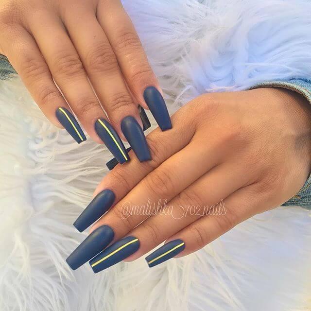 ongles longs et droits en gel