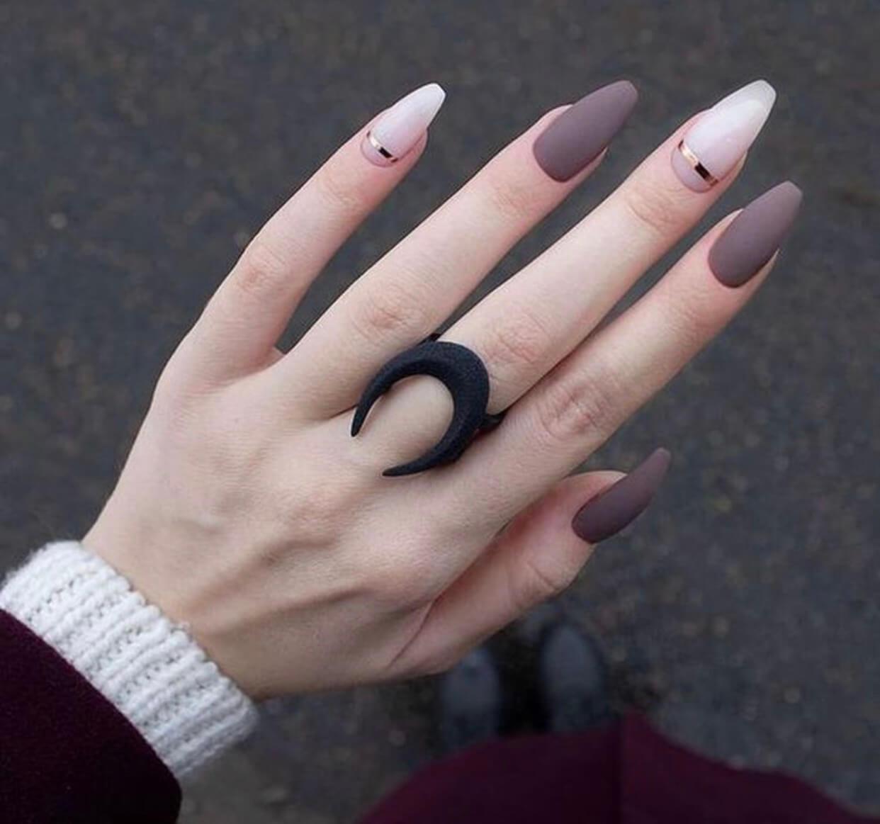 ongles mats simples pour la mariée