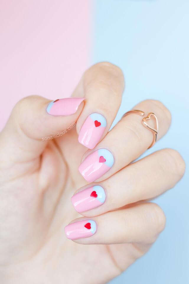 Des ongles d'amour avec des cœurs pour les romantiques! + 170 designs 33