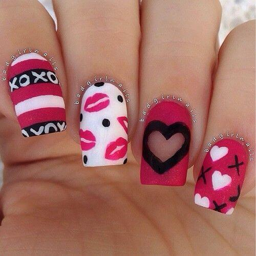 ongles nail art valentines (3)