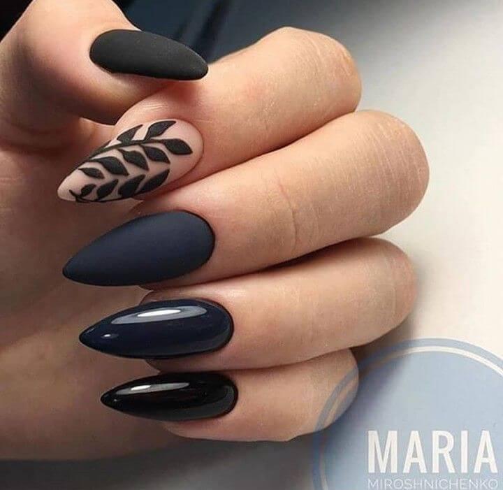 ongles noirs pour la mariée