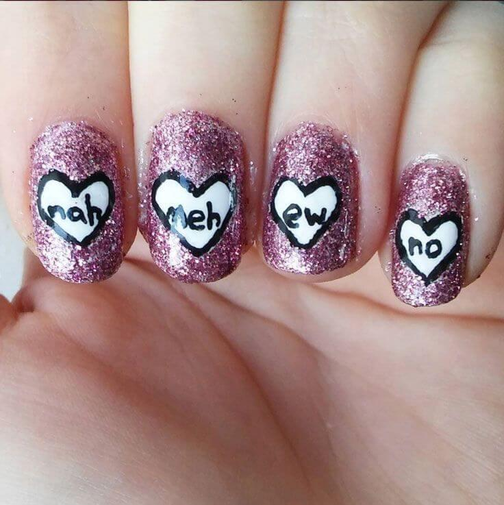 Des ongles d'amour avec des cœurs pour les romantiques! + 170 dessins 12
