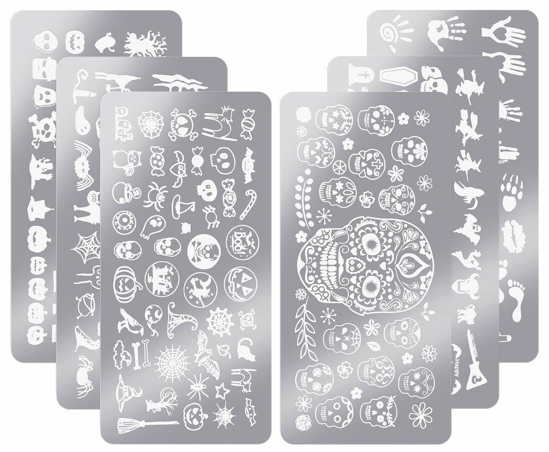 plaques d'impression d'ongles d'halloween