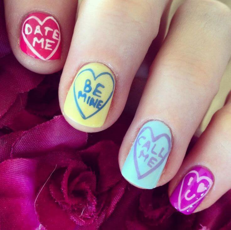 Des ongles d'amour avec des cœurs pour les romantiques! + 170 dessins 10