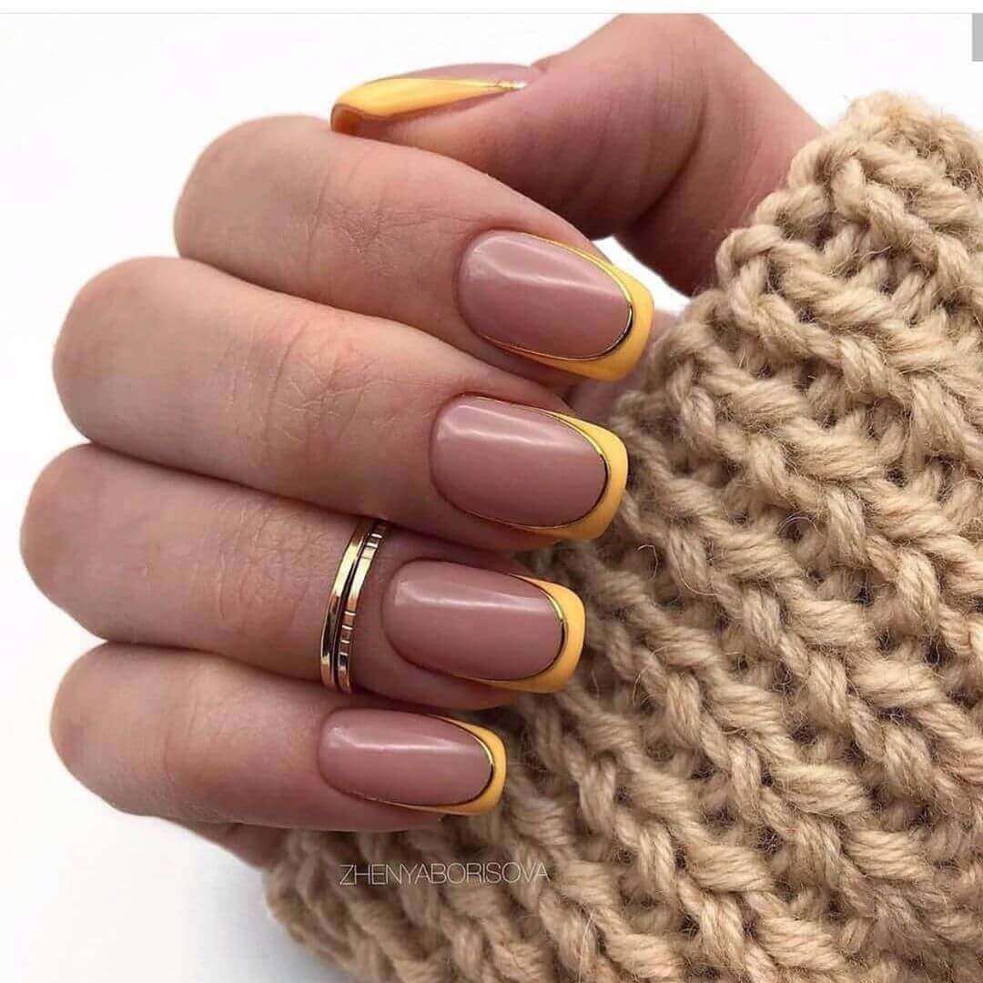 ongle français coloré