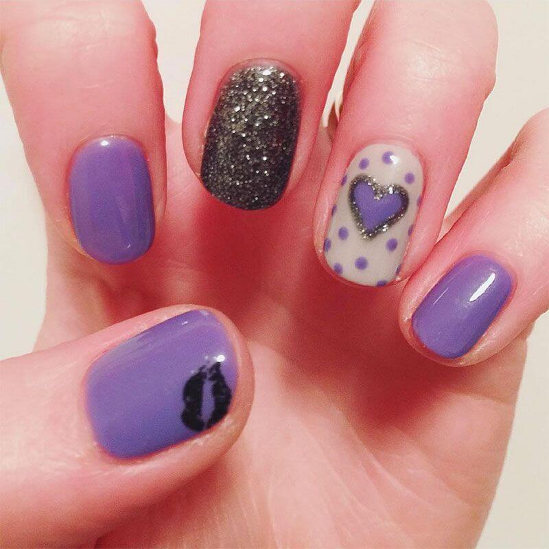 Des ongles d'amour avec des cœurs pour les romantiques! + 170 designs 9